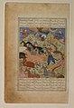 """Rustam Lassos Rakhsh"", Folio from a Shahnama (Book of Kings) MET sf1972-285-2a.jpg"