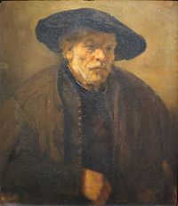 'Portrait of an Old Man' by Rembrandt, 1654, Pushkin Museum.JPG