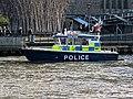 'Sir Robert Peel II' Metropolitan Police Boat near Bankside Pier, River Thames 04.jpg