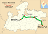 (Bhopal - Bilaspur) Express Route map.png