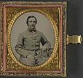 (Unidentified soldier in Confederate uniform with photograph case) (LOC) (14378993818).jpg