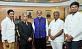 ) B.D. Mishra and the Minister for Endowment, Andhra Pradesh, Shri Pydikondala Manikyala Rao meeting the Minister of State for Tourism (IC) and Electronics & Information Technology, Shri Alphons Kannanthanam, in New Delhi.jpg