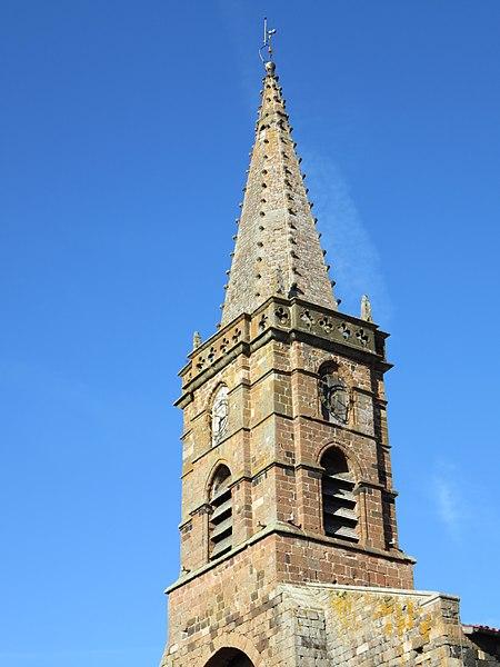 Clocher de l'église Saint-Georges de Saint-Paulien (Haute-Loire, France).