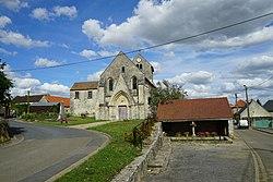 Église monument lavoir Balnzy 29846.jpg