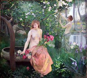 Émile-René Ménard - Spring (oil on canvas)