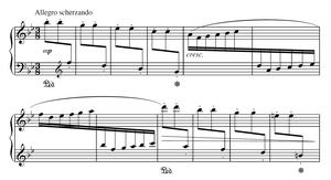 Excerpt of Étincelles Op. 36 No. 6 by Moritz M...
