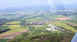 Černčice (Náchod District) - Air view