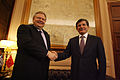 Συνάντηση Αντιπροέδρου της Κυβέρνησης και ΥΠΕΞ Ευ. Βενιζέλου με ΥΠΕΞ Τουρκίας Α. Davutoglu (13.12.2013) (11355458395).jpg
