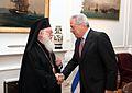 Συνάντηση ΥΠΕΞ Δ. Αβραμόπουλου με Αρχιεπίσκοπο Τιράνων, Δυρραχίου και πάσης Αλβανίας κ. Αναστάσιο (7602878366).jpg