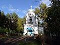 Всехсвятская церковь на кладбище в Белой Холунице со стороны входа.jpg
