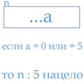 Если последняя цифра числа равна 5 или 0, то это число делится на 5.png