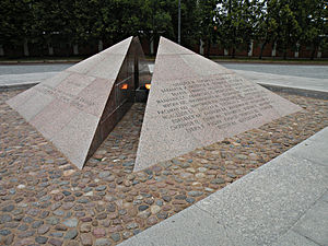 Kronstadt rebellion - A memorial to Bolshevik troops who died in the process of suppressing the 1921 Kronstadt Uprising.
