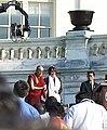 圖博-西藏領袖14世達賴喇嘛於獲頒美國國會金質獎章典禮上與眾議院議長南希·裴洛西 Tibet Leader Dalai Lama @ Congressional Gold Medal Award Ceremony with Speaker of the U.S. House of Representatives.jpg
