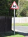 -2018-09-15 Double bend sign, Mundesley Road, Trimingham.JPG