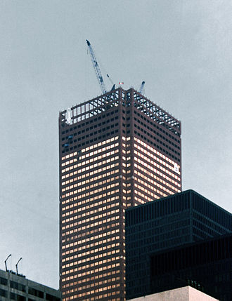 First Canadian Place - First Canadian Place under construction in 1975