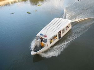 Pasig River Ferry Service - M/R E. Tolentino, one of the ferry boats of the Pasig River Ferry Service