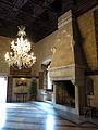 080 Castell de Santa Florentina (Canet de Mar), sala de la terrassa, llar de foc.JPG