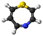 Ball-and-stick model of the 1,4-thiazepine molecule