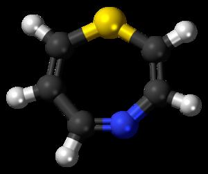 1,4-Thiazepine - Image: 1,4 Thiazepine 3D ball
