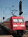 101 073-5 powers the Mainz-Stuttgart service out of Mannheim. Deutsche Bahn electric locomotive haulage.jpg