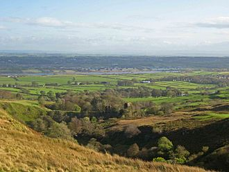 Kilbirnie - Glengarnock Castle, looking towards Kilbirnie Loch and the northern suburbs of Kilbirnie.