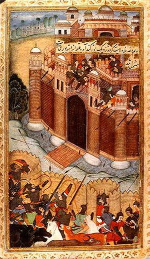Uzgen - Mirza Abu Bakr Dughlat's unsuccessful attempt to capture Uzgen (from the Baburnama).