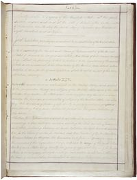 First page of the Fourteenth Amendment, whose Equal Protection Clause was used in determining Bush v. Gore