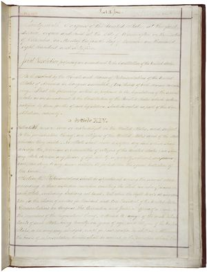 Fourteenth Amendment to the United States Constitution - Image: 14th Amendment Pg 1of 2 AC