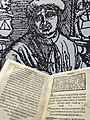 1518 Printed Volume of Bible by Francisk Skoryna - With Portrait of the Printer - Book Museum - National Library - Minsk - Belarus (27474519651).jpg