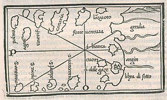 History of Cape Verde - Canary Islands and Capo Verde in the 1534 Isolario by Benedetto Bordone