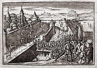Siege of Belgrade (1688) - Image: 1688 assault on Belgrade