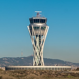 Barcelona–El Prat Airport - The new control tower is a hyperboloid structure.