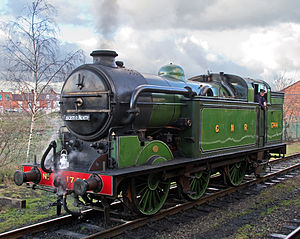 GNR Class N2 - Preserved 1744 in Loughborough Down Loop at the Great Central Railway 2012