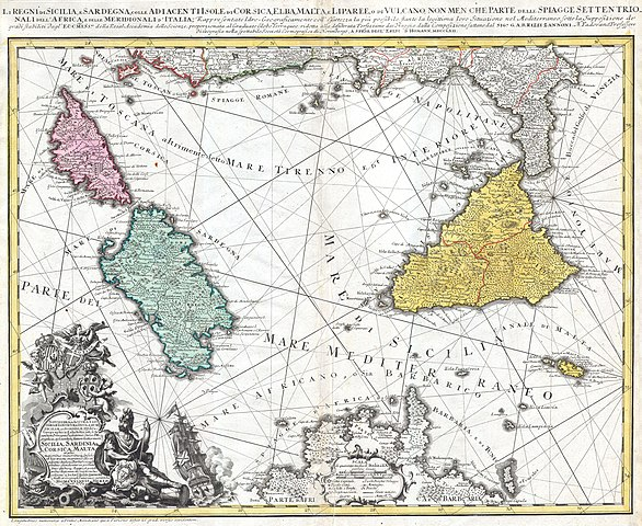 Eredi Homann - Carta delle isole italiane