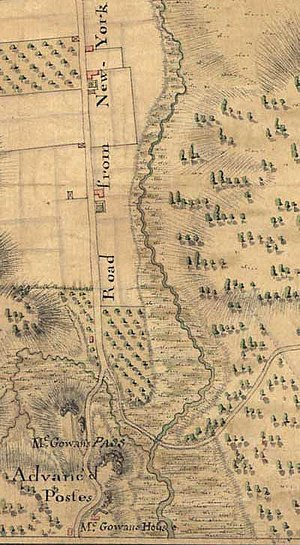 McGowan's Pass - Image: 1776mcgowansmap
