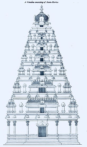 Vimana (architectural feature) - A seven storey vimana