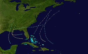 1860 Atlantic hurricane season - Image: 1860 Atlantic hurricane season summary