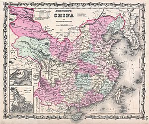 Zhili - Image: 1861 Johnson Map of China Geographicus China johnson 1861