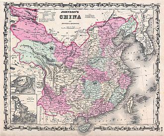 Zhili - Image: 1861 Johnson Map of China Geographicus China johnson 1861