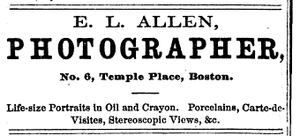 Edward L. Allen - Image: 1871 EL Allen photographer Boston Almanac
