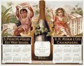 1876 calendar for El Principe de Gales Key West Segars and G.H. Mumm & Co.'s Champagne, showing boy holding box of cigars and girl holding grapes and champagne glass LCCN97517358.tif