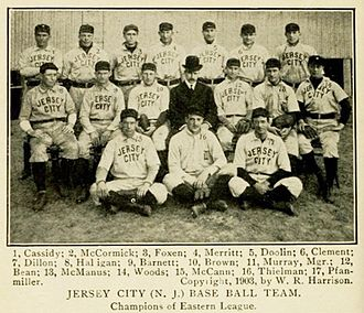 The National Baseball Association's top 100 minor league teams - 1903 Jersey City Skeeters, No. 7