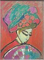 1910 painting by Alexej von Jawlensky - Young Girl with a Flowered Hat.jpg