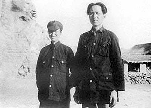 He Zizhen - Mao with his third wife, He Zizhen, in 1928