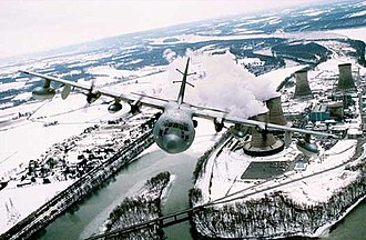 193d Special Operations Squadron - A 193d Special Operations Squadron EC-130E over Three Mile Island