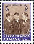 1964 stamp of Ajman JFK 7a.jpg