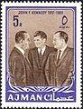 1964 stamp of Ajman JFK 7a.jpg