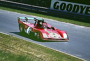 Carlos Pace - Pace driving a Ferrari 312PB at the Nürburgring in 1973.