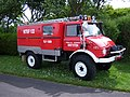 1981 Unimog 416 (BX RB 13) fire engine, 2012 HCVS Tyne-Tees Run (1).jpg