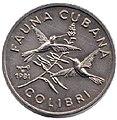 1 песо. Куба. 1981. Фауна Кубы - Колибри-пчёлка.jpg